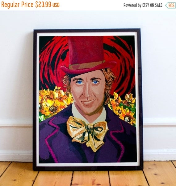 On Sale The Candyman - Gene Wilder Willy Wonka and the Chocolate Factory Fine Art Print