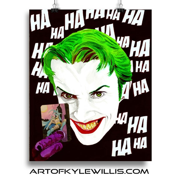 The Joker's Card Painting Fine Art Print