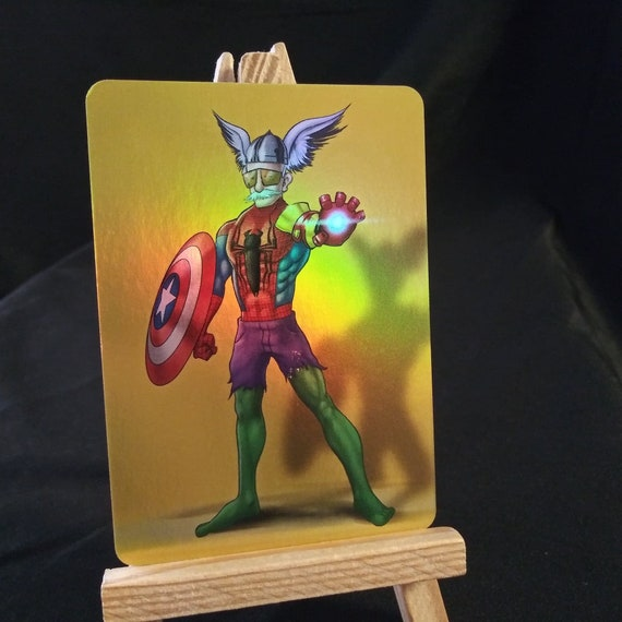 Stan Lee Holofoil Trading Card feat Hulk Spider-Man Thor Captain America Iron Man