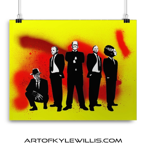 Horror Mad Men - Horror Classics Painting Fine Art Print