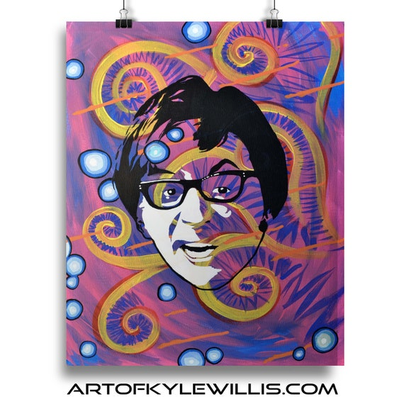 Austin Powers Acrylic Painting Fine Art Print