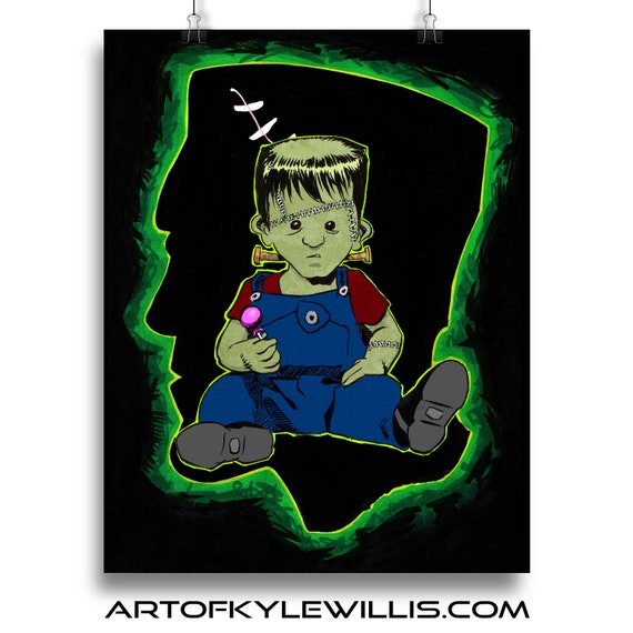 Horror Baby Frankenstein Multimedia Fine Art Print