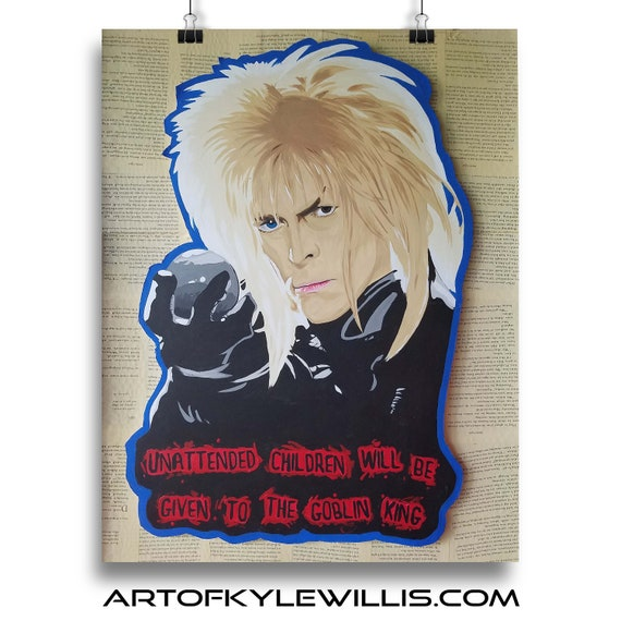 Jareth the Goblin King - Labyrinth David Bowie Acrylic Painting Fine Art Print