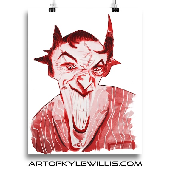 The Joker Watercolor Painting Fine Art Print