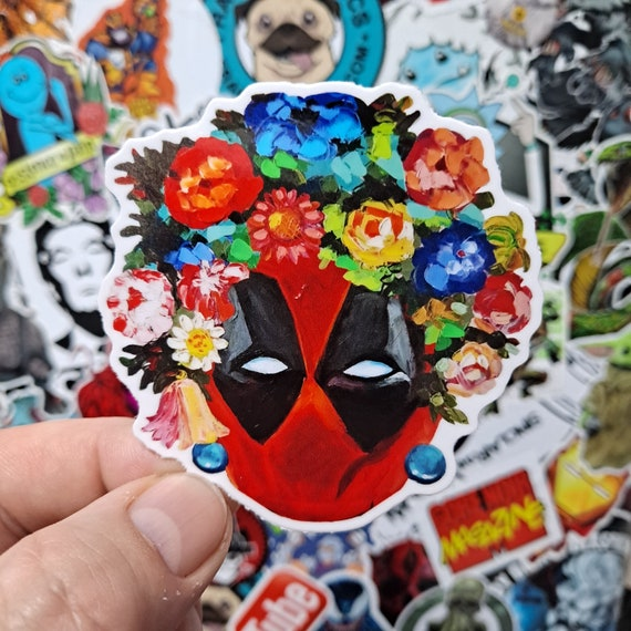 Frida Kahlo Deadpool Sticker
