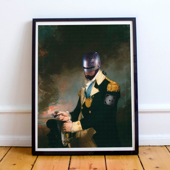 Robocop missing Officer Anne Lewis Classical Painting Fine Art Print