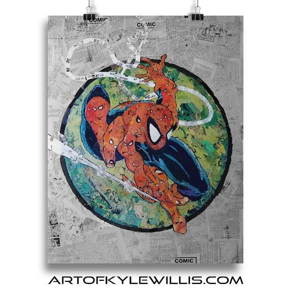 Amazing Spider-Man 301 Mosaic Collage Art Print after Todd McFarlane