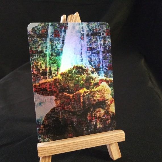 Baby Yoda Star Wars Mosaic Holofoil Trading Card