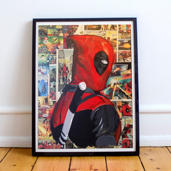 Deadpool Collage Painting Fine Art Print
