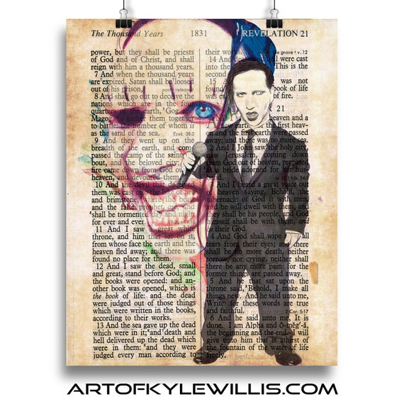 Just a Touch - Marilyn Manson Fine Art Print