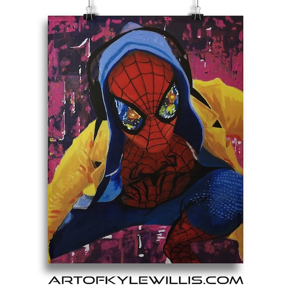 Into the Color Wheel Amazing Spider-Man Spiderverse Fine Art Print