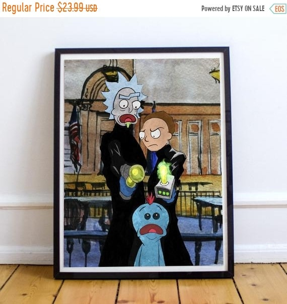 On Sale For Thee, my Lord, for Thee - Rick and Morty Boondock Saints Fine Art Print