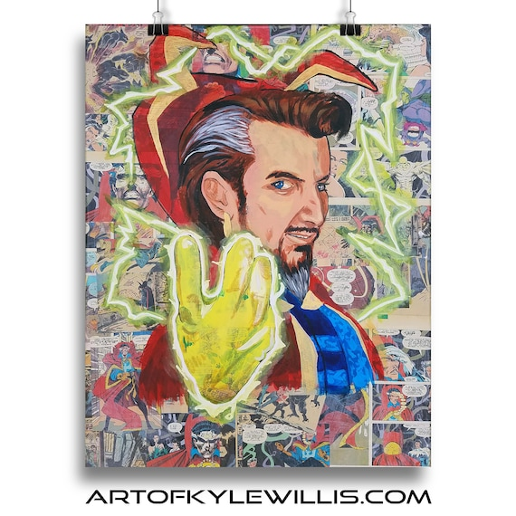 Doctor Strange Arcylic Painting Avengers Fine Art Print