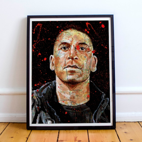 The Punisher Sketch Atlas - Jon Bernthal The Defenders Fine Art Print