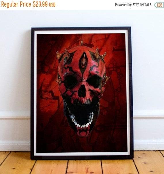 On Sale Darth Skull - Darth Maul STAR WARS Sith Appreitice Fine Art Print