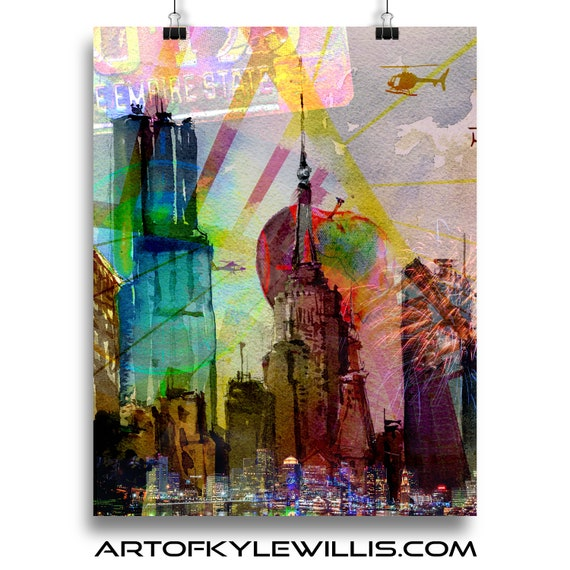NYC Series Empire State Building multimedia fine art print