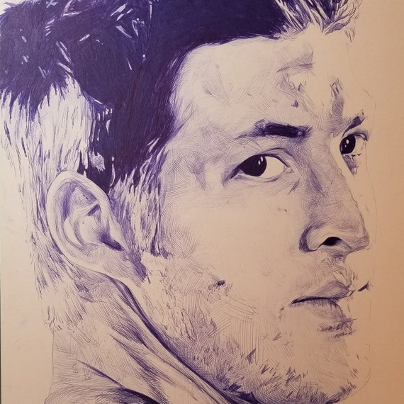 Tim Tebow ballpoint Pen Illustration