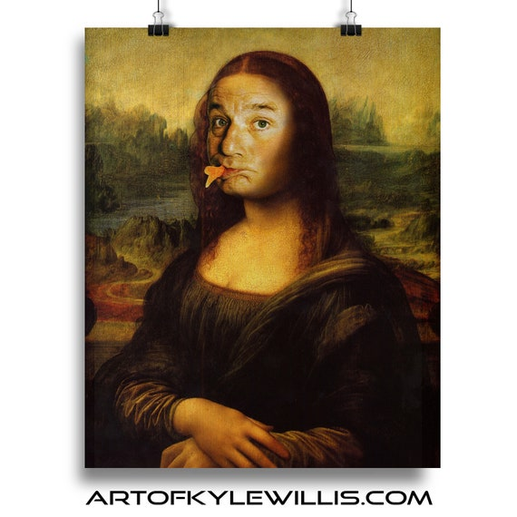 Swedish Fish - Bill Murray Mona Lisa Smile Painting Fine Art Print