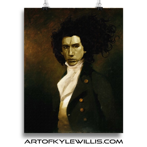Kylo Renaissance - Kylo Ren STAR WARS Classic Painting Fine Art Print
