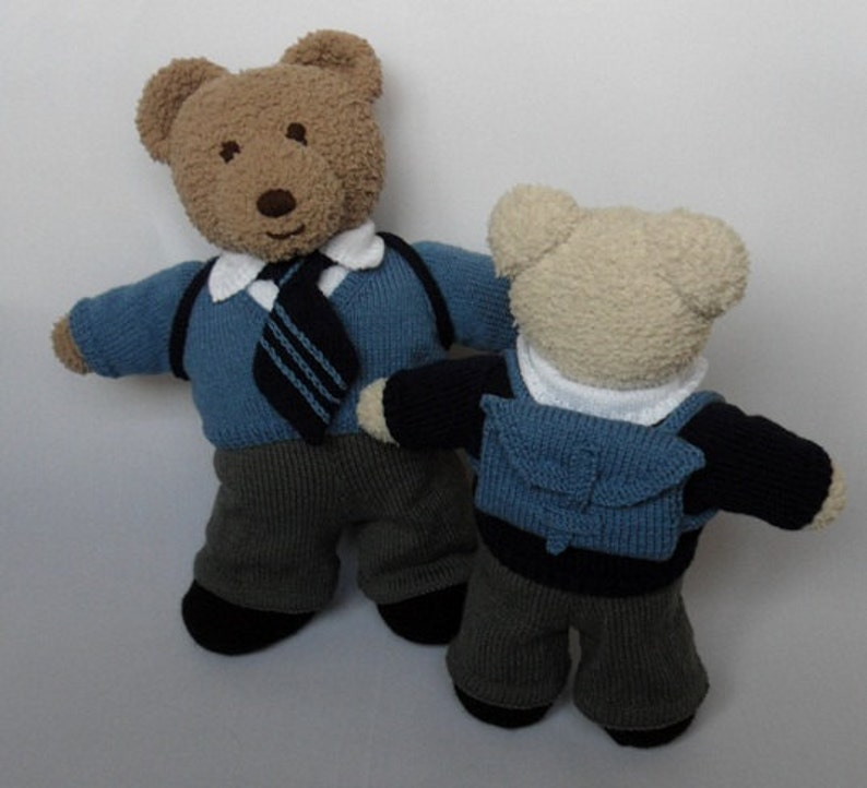 TEDDY Bear CLOTHES Boys School Uniform knitting pattern | Etsy