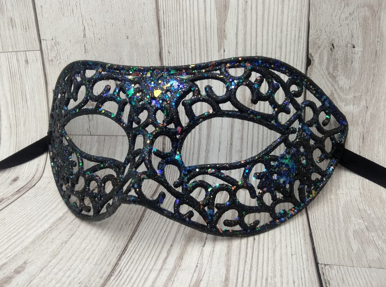 Silver gold glitter sequin Fancy Dress Eye Mask Masquerade Party Ball Hen Night