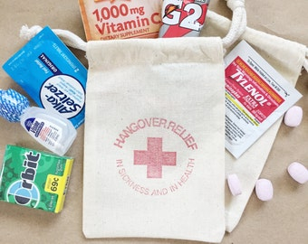 Hangover Kit - hangover bag wedding - hangover kit bachelorette - hangover bags - hangover kit bag - bachelorette bachelor party favor
