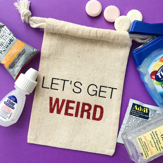 Lets Get Weird Party Favor Bags Destination Wedding Etsy