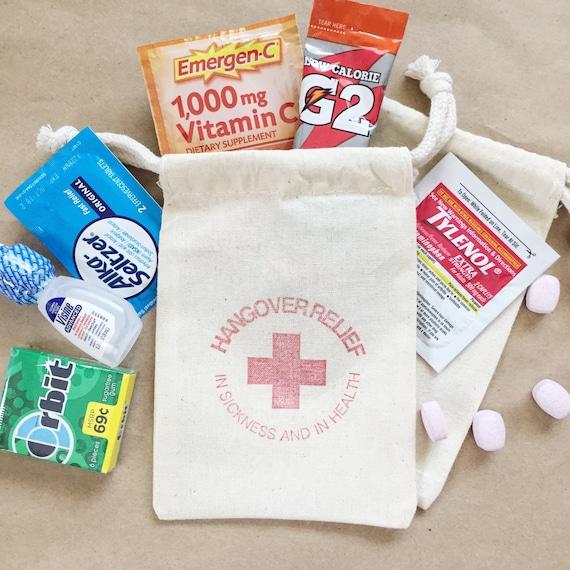 Welcome Bags 35 Hangover Kit Bag Wedding Favor Bags Hangover Kit Bachelorette Party Favors Bachelorette Party Hangover Bag