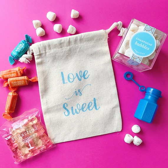Love Is Sweet Wedding Favor Bags Wedding Guest Party Etsy