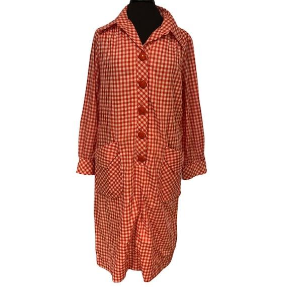 Vintage 1970s dress Henry Lee red gingham