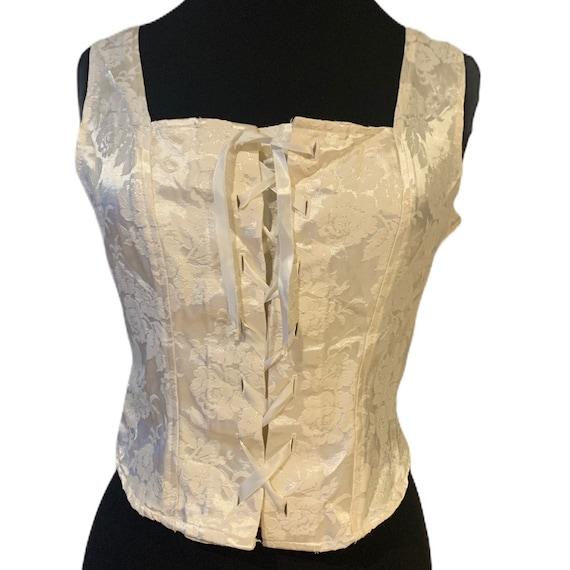 Vintage top Victorian tank blouse corset style