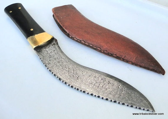 Damascus Staal Blade Knife Dagger Schede India Etsy