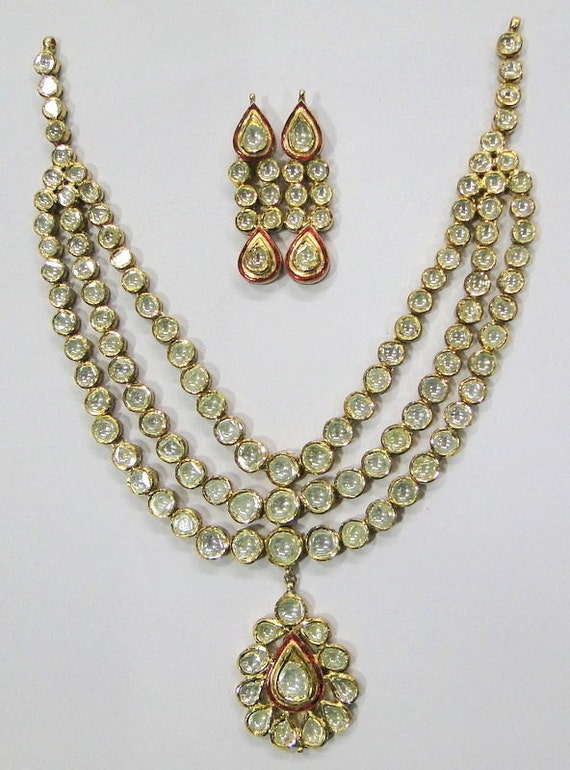 Vintage antique enamel work Solid 20K Gold diamond