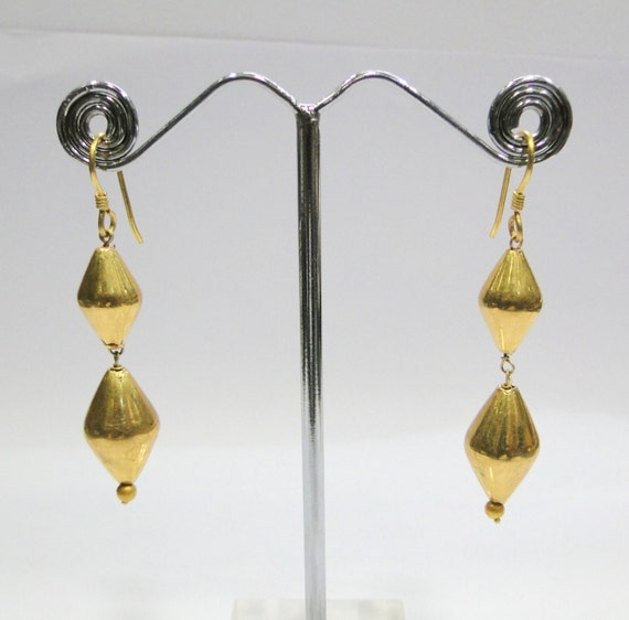Vintage antique jewelry 20K Gold beads earring pai