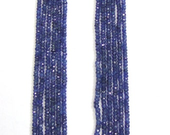 491 Ct Faceted Blue Sapphire Gemstones 6 Strands Beads Necklace India