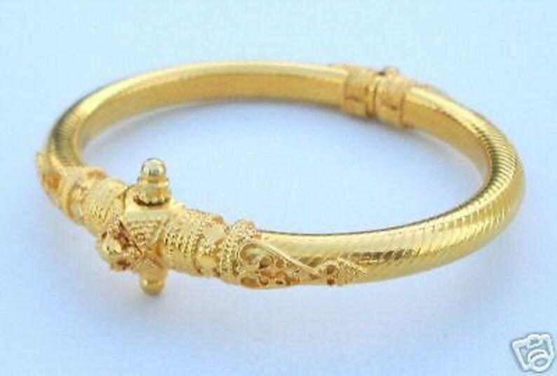 2bf4ce999 Vintage Antique Solid 22 Carat Gold Bracelet Bangle Rajasthan | Etsy