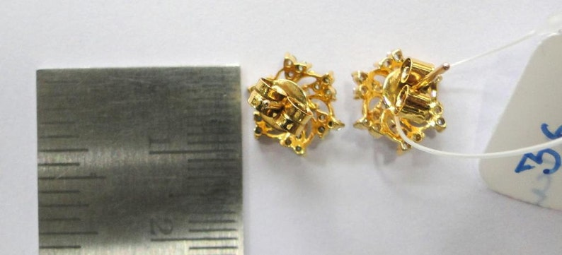 4dff4ae2e2a52 14k Solid Gold Natural Diamond Stud Earring Pair