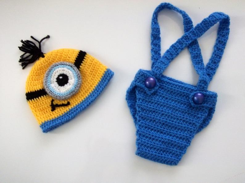 Minion Diaper Cover Setfor newborn Earflap minion hat not  05e7625f1e2c