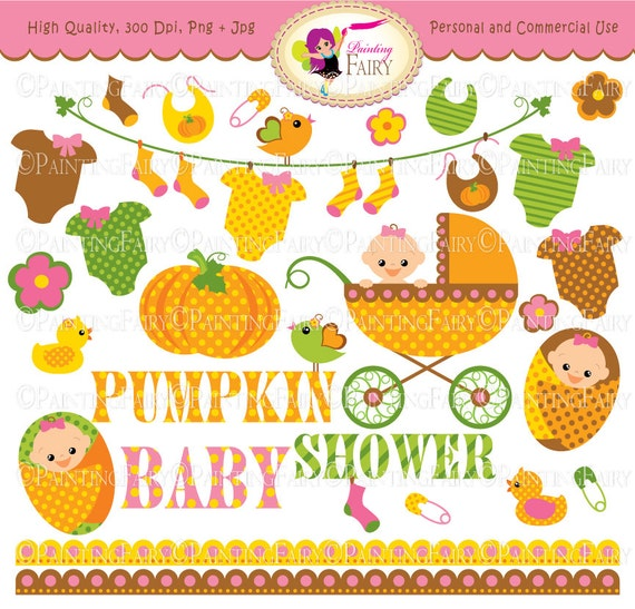 ad81003bd Autumn Baby Girl Clipart Cute pumpkin Baby clothes line socks   Etsy
