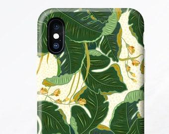 iPhone X Case Banana Leaf iPhone 8 Case iPhone 7 Case iPhone 7 Plus Case iPhone SE Case iPhone 6 Case Samsung S9 Case Galaxy S8 Case I144