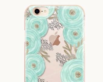 iPhone 8 Case iPhone X Case iPhone 7 Case Ranunculus Clear GRIP Rubber Case iPhone 7 Plus Clear Case iPhone SE Case Samsung S8 Case U143
