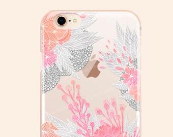 iPhone 8 Case iPhone X Case iPhone 7 Case Floral Clear GRIP Rubber Case iPhone 7 Plus Clear Case iPhone SE Case Samsung S8 Plus Case 275