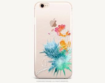 iPhone 8 Case iPhone X Case iPhone 7 Case Cacti Clear GRIP Rubber Case iPhone 7 Plus Clear Case iPhone SE Case Samsung S8 Plus Case U124