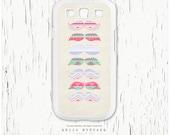 Samsung Galaxy S3 case Pastel Pink Aztec Mustache