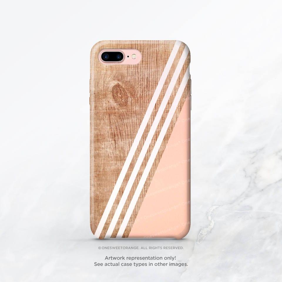 IPhone XS Case Coral Wood Stripe IPhone XS Max Case IPhone