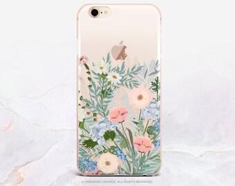 iPhone X Case Summer Floral iPhone 8 Case iPhone 7 Case Rubber Case iPhone 7 Plus Clear Case iPhone SE Case Samsung S8 Plus Case U357