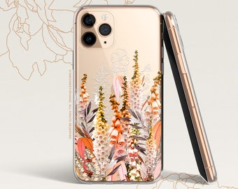 iPhone 12 Case Foxgloves iPhone 11 Pro Case Clear Rubber iPhone 11 Pro Max Case iPhone XS iPhone XS Max iPhone XR iPhone X iPhone 8 Case 268