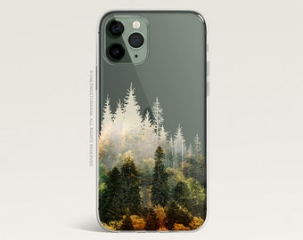 iPhone 12 Case Fall Forest iPhone 11 Pro Case Clear Rubber iPhone 11 Pro Max iPhone XS iPhone XS Max iPhone XR iPhone X iPhone 8 Case U414