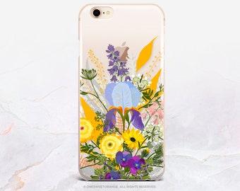 iPhone 8 Case Iris iPhone X Case iPhone 7 Case Floral Clear GRIP Rubber Case iPhone 7 Plus Clear Case iPhone SE Case Samsung S8 Case U397