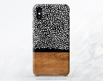 iPhone 12 Case Wood Polka Dots iPhone 11 Pro Case iPhone 11 Pro Max Case iPhone XS Case iPhone XS Max iPhone XR Case iPhone X Case R50
